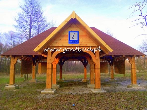 altana drewniana dworek drewniany altanka wiata garaż