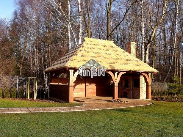 altana drewniana altanka ogrodowa garaż drewniany